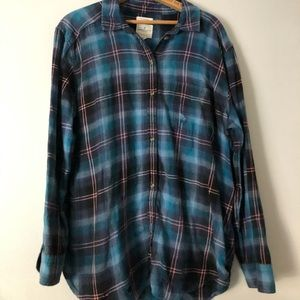 """Destroyed"" AE flannel"